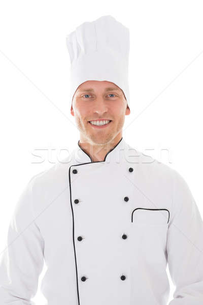портрет счастливым мужчины повар взрослый изолированный Сток-фото © AndreyPopov