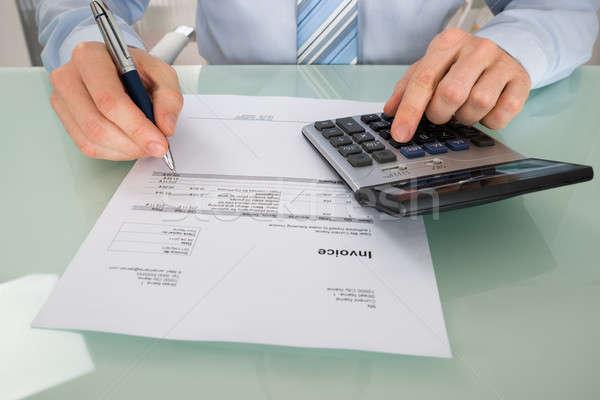 Affaires facture simulateur bureau affaires Photo stock © AndreyPopov