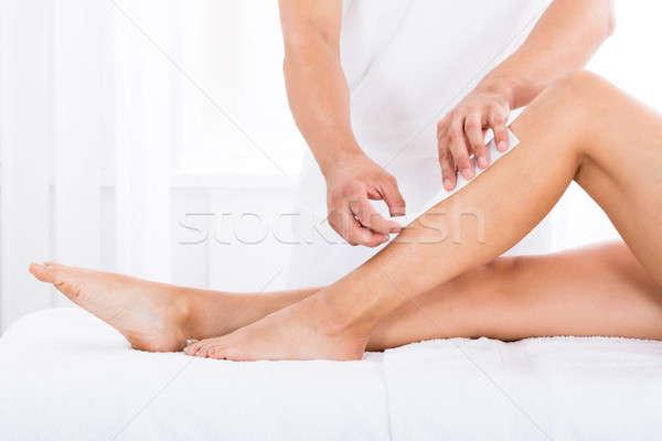 Ontharing been medische lichaam Stockfoto © AndreyPopov