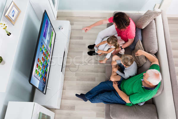 Multi Generation Family Playing Videogame At Home Stock photo © AndreyPopov