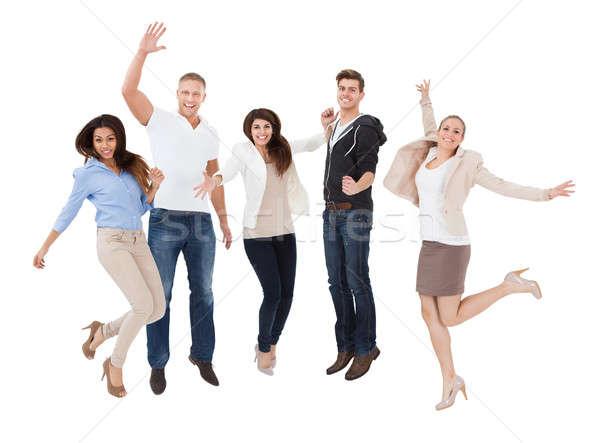 Izgatott emberek fehér faji éljenez üzlet Stock fotó © AndreyPopov