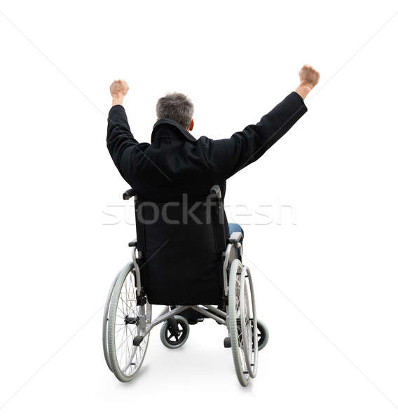 Disabled Man Sitting On Wheelchair Stock photo © AndreyPopov