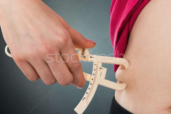 Kobieta żołądka tłuszczu ciało Zdjęcia stock © AndreyPopov