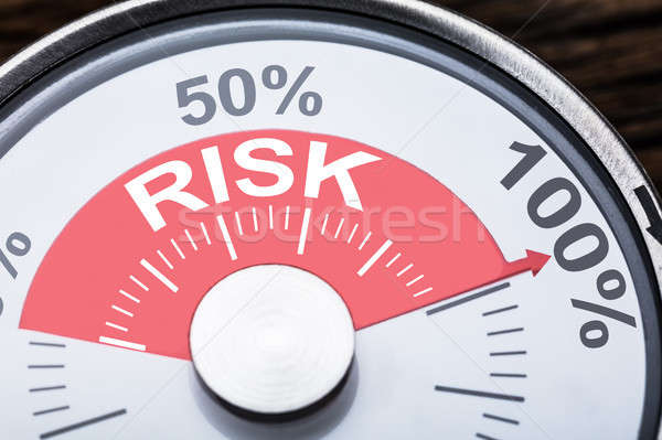 Risk Text On Meter Gauge Stock photo © AndreyPopov