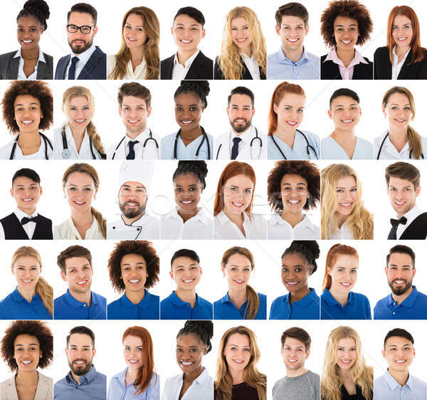 Collage Of People Belonging From Different Professions Stock photo © AndreyPopov