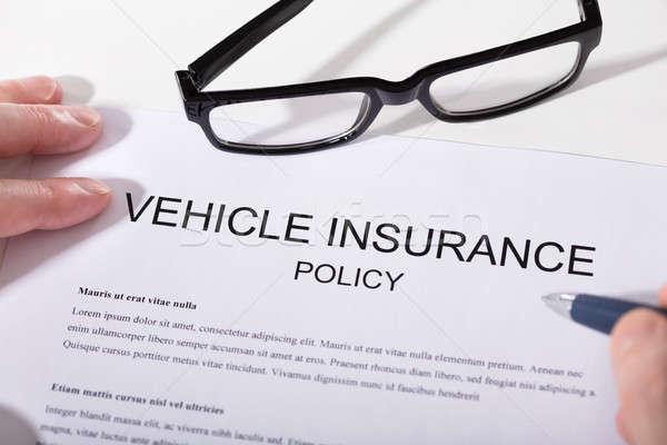 Elevated View Of Vehicle Insurance Policy Form Stock photo © AndreyPopov