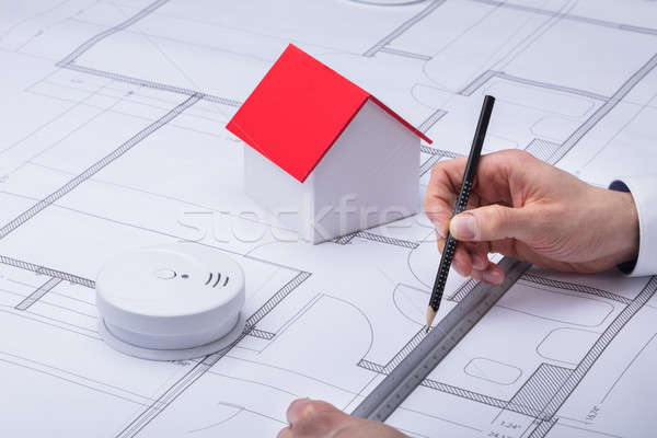 Architecture Drawing Blueprint Stock photo © AndreyPopov
