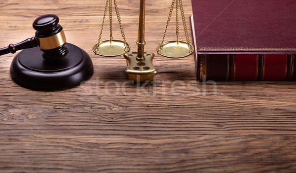Judge Gavel And Justice Scale And Law Book Stock photo © AndreyPopov