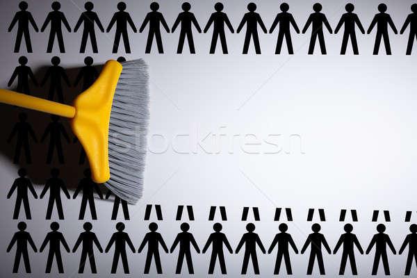 метлой человека полу очистки шаблон щетка Сток-фото © AndreyPopov