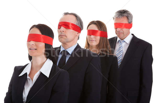 Business People's Eyes Covered With Ribbon Stock photo © AndreyPopov