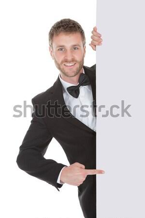 Portrait of excited businessman Stock photo © AndreyPopov