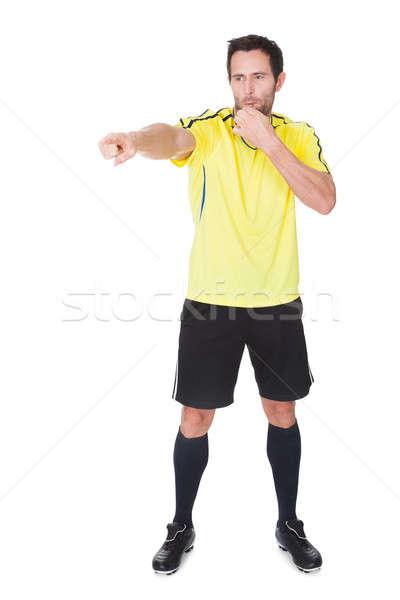 Футбол судья изолированный белый человека спорт Сток-фото © AndreyPopov