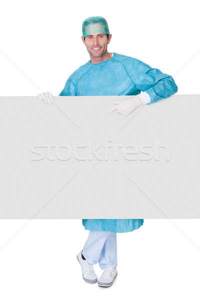 Foto stock: Masculina · cirujano · uniforme · aislado · blanco