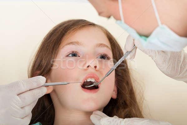 Girl Going Through Dental Examination Stock photo © AndreyPopov