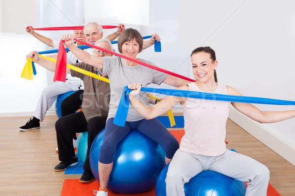 Pessoas resistência sessão fitness retrato Foto stock © AndreyPopov