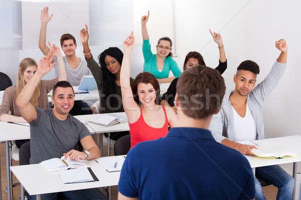 University Students Answering Teacher Stock photo © AndreyPopov