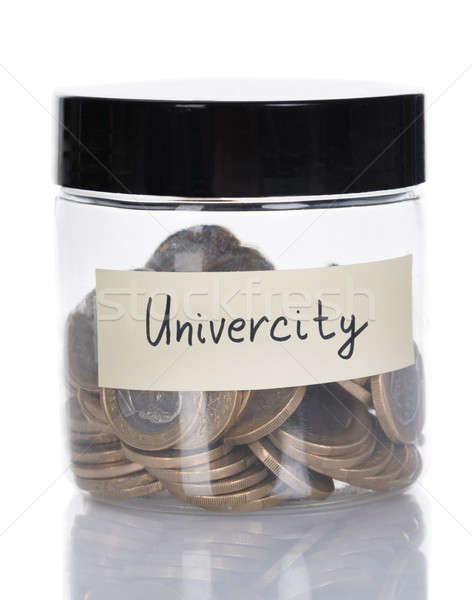 University Jar Filled With Coins Stock photo © AndreyPopov