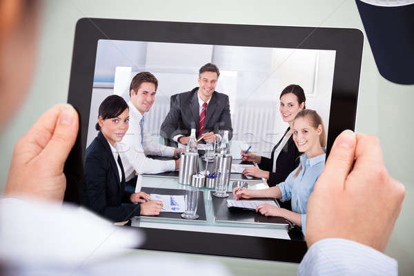 Businessperson With Digital Tablet Stock photo © AndreyPopov