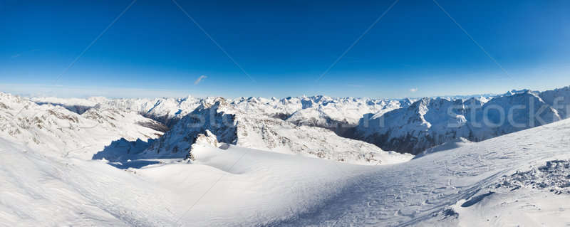 Alpine montagnes alpes nature neige glace Photo stock © AndreyPopov
