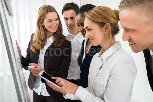 Manager Explaining Business Strategy To The Staffs Stock photo © AndreyPopov