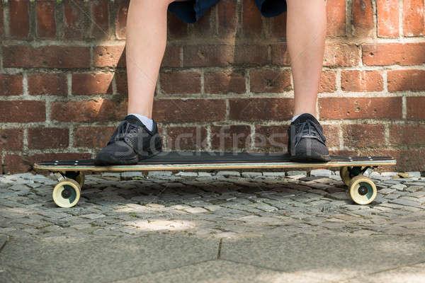 мальчики ног скейтборде фото ребенка Сток-фото © AndreyPopov