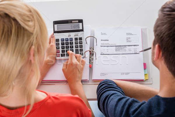Couple Calculating Invoice Stock photo © AndreyPopov