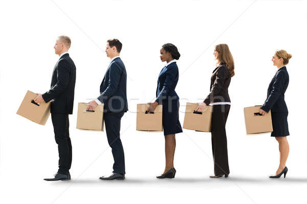 Businesspeople Moving Into New Office Stock photo © AndreyPopov