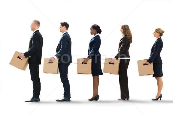 Bewegende nieuwe kantoor werkloos Stockfoto © AndreyPopov