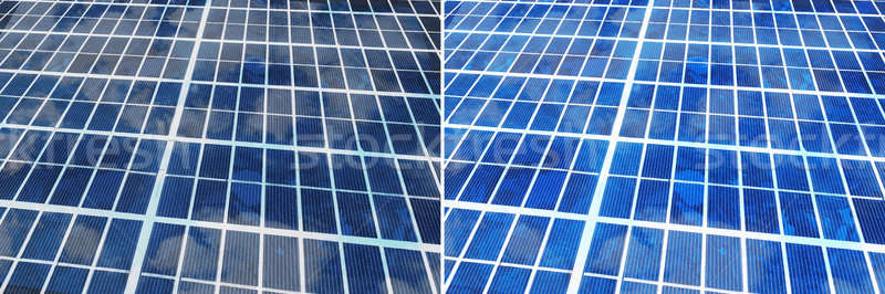 Clean And Unclean Solar Panel Stock photo © AndreyPopov