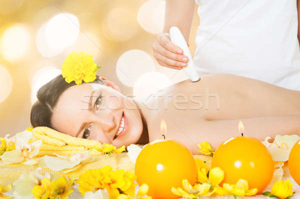 Woman Receiving Epilation Laser Treatment Stock photo © AndreyPopov