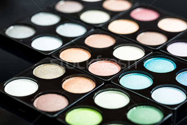 Close-up Of Eye Shadow Palette Stock photo © AndreyPopov