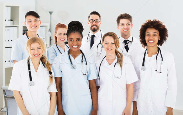 Group Of Multi Ethnic Male And Female Doctors Stock photo © AndreyPopov