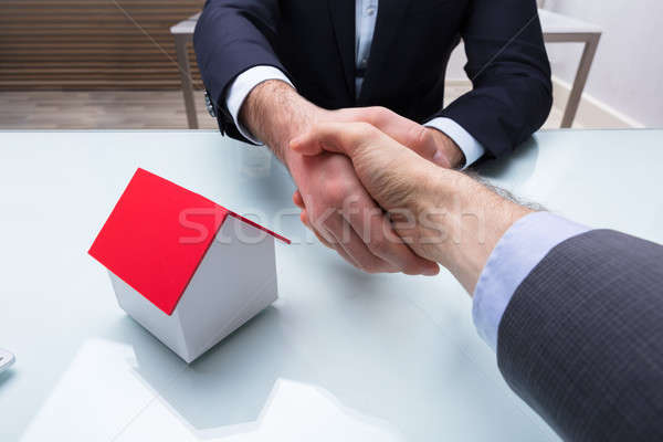 Estate Agent Shaking Hand With Client Stock photo © AndreyPopov