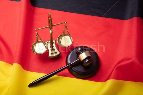 表示 正義 規模 デザイン 法 赤 ストックフォト © AndreyPopov