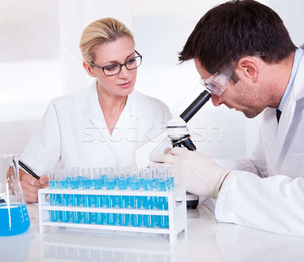 Technicians or medical staff in a laboratory Stock photo © AndreyPopov