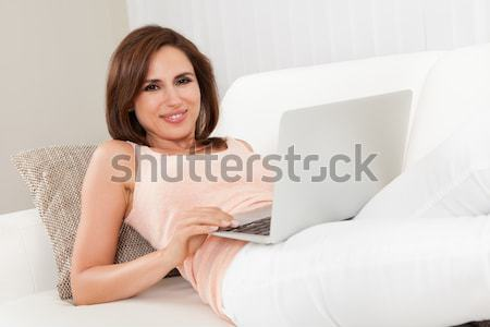 Young Woman With Laptop Stock photo © AndreyPopov