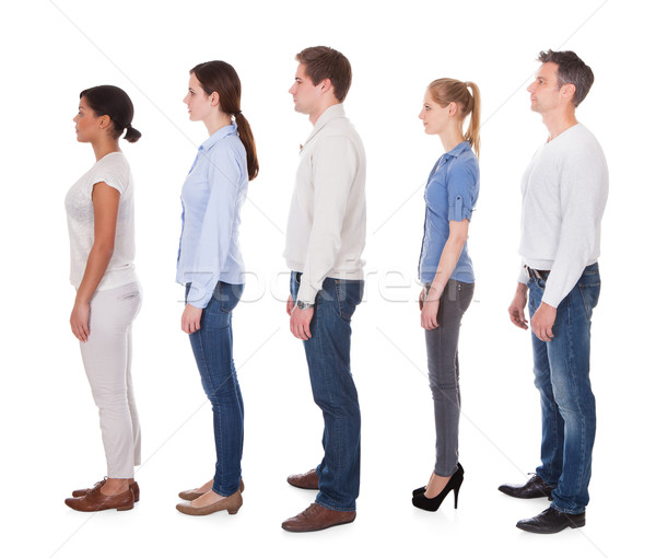 Group Of People In Queue Stock photo © AndreyPopov