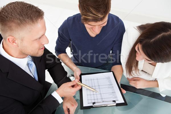 Doradca finansowy inwestycja plan para Zdjęcia stock © AndreyPopov