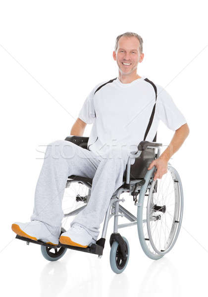 Mature Man Wheelchair Stock photo © AndreyPopov