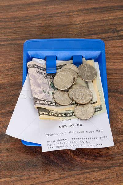 ショッピング 領収書 アメリカン ドル クローズアップ 青 ストックフォト © AndreyPopov