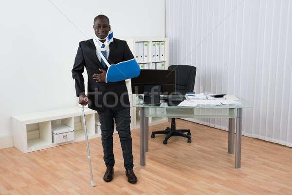 инвалидов бизнесмен Постоянный служба портрет счастливым Сток-фото © AndreyPopov