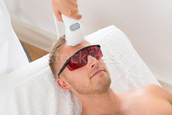 Lézer epiláció kezelés fiatalember orvosi haj Stock fotó © AndreyPopov