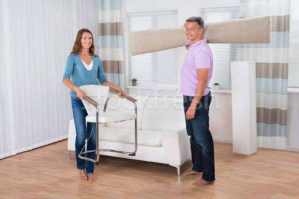 Arrangement Of Chair And Carpet In New Apartment Stock photo © AndreyPopov