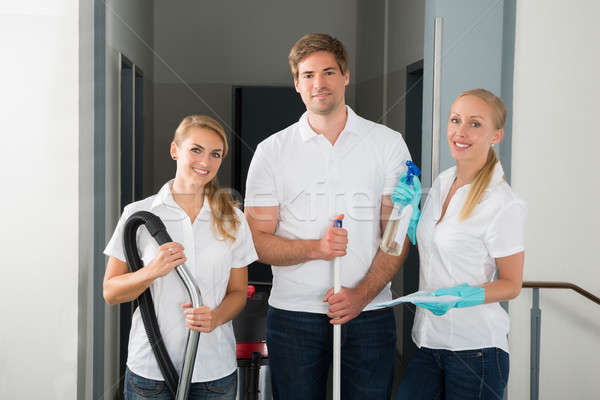 Group Of Happy Young Janitors Stock photo © AndreyPopov
