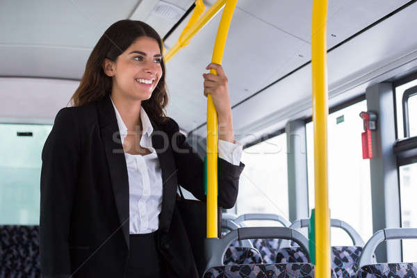 Businesswoman Traveling By Public Transport Stock photo © AndreyPopov