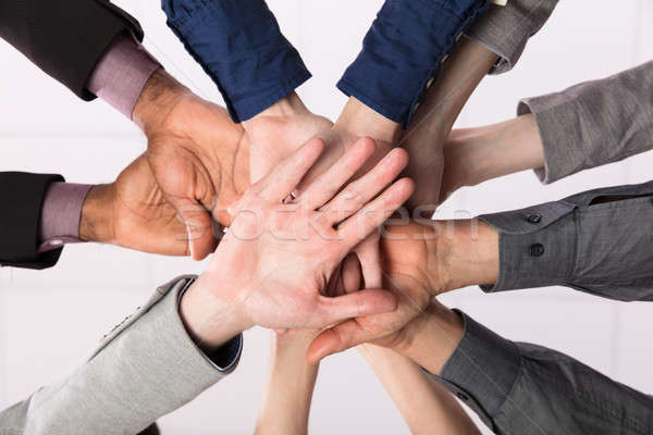 Business Team Stacking Hands Together Stock photo © AndreyPopov
