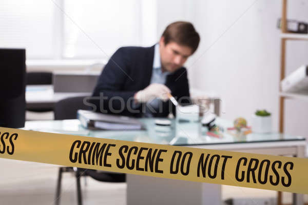 Forensic Expert Searching For Crime Evidence Stock photo © AndreyPopov