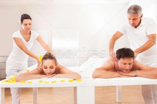 戻る プロ スパ 魅力的な 夫 妻 ストックフォト © AndreyPopov
