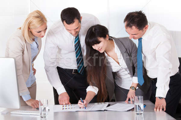 Stock photo: Business People Working Together