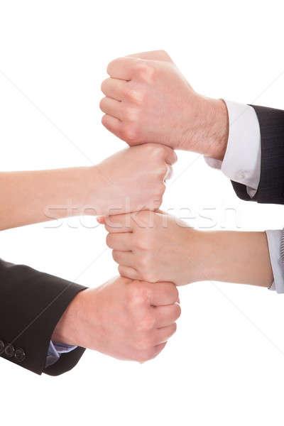 Gens d'affaires mains ensemble blanche homme Photo stock © AndreyPopov